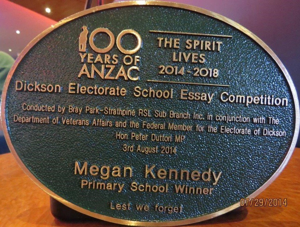 years of anzac brayparkstrathpinersl com au since the event we received a letter from one of our members saying i attended the commemorative service for the centenary of the start of s